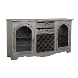 GuildMaster Wine Rack Buffet in Taupe and Gray