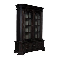 GuildMaster Library Curio Cabinet in Black