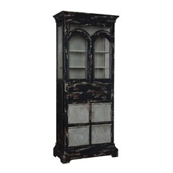 GuildMaster Farmhouse Curio Cabinet in Black