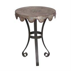 GuildMaster Wine Country End Table in Black