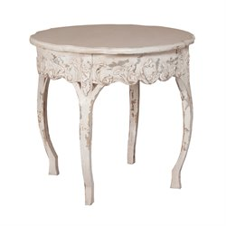 GuildMaster Legacy Round End Table in White