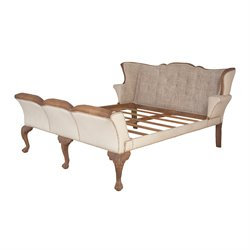 GuildMaster Washington Queen Sleigh Bed in Brown