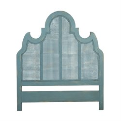 GuildMaster Manor Caned Queen Panel Headboard in Blue
