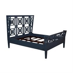 GuildMaster Manor Queen Bed in Blue