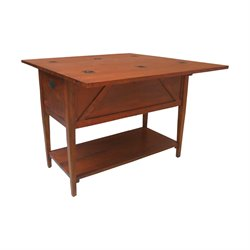 GuildMaster Workshop Butcher Block Station in Handpainted Wood Tone