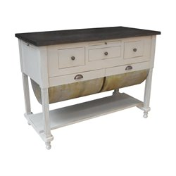 GuildMaster Possum Belly Butcher Block Station in Handpainted