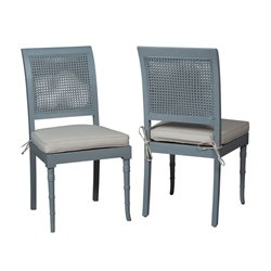 GuildMaster Savona Dining Chair in Blue (Set of 2)