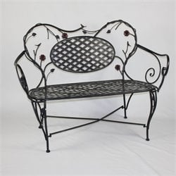 Patio Bench in Black