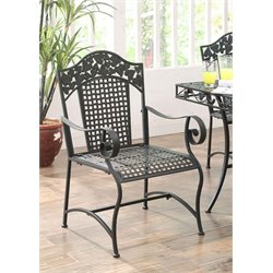Patio Dining Chair in Brown Mesa (Set of 2)