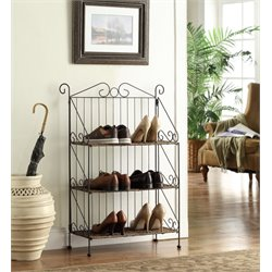 3 Tier Metal Baker's Rack in Black
