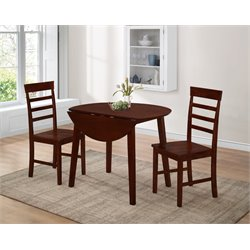 3 Piece Dinette Set in Oak