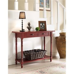 Console Table in Red