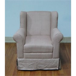 Boy's Striped Wingback Chair in Gray