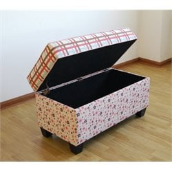Storage Bench in Plaid and Floral