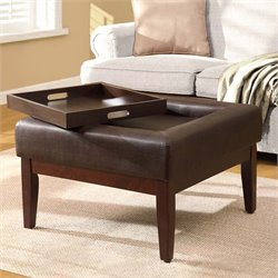 Storage Coffee Table Ottoman in Espresso