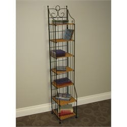 Wicker CD Rack in Caramel