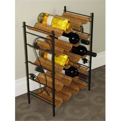 Wicker Wine Rack in Caramel
