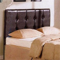Queen Faux Leather Upholstered Headboard