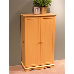 Media Storage Cabinet in Beech