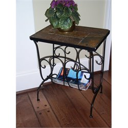 Magazine End Table in Slate