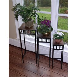 3 Piece Square Nesting Table Set in Slate