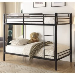 4D Concepts Boltzero Twin over Twin Bunk Bed in Black