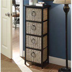 4D Concepts Windsor 4 Drawer Accent Chest in Black