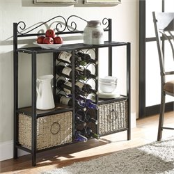 4D Concepts Windsor Wine Rack Console Table in Black