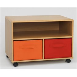 4D Concepts Zany TV Cart in Natural Orange and Red