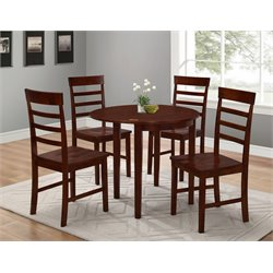 4D Concepts Springfield 5 Piece Extendable Dining Set in Antique Oak