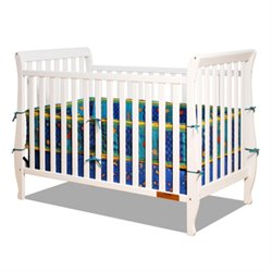 Athena Naomi 4 in 1 Convertible Crib with Changing Table in White