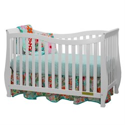 AFG Baby Furniture Athena  Lorie 4 in 1 Convertible Crib with Guardrail