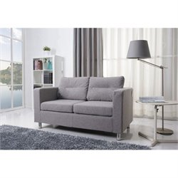 Brika Home Fabric Loveseat in Ash