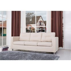 Brika Home Fabric Sofa in Beige