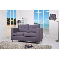 Brika Home Fabric Loveseat in Dark Gray