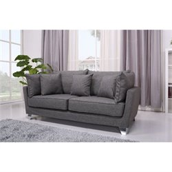Brika Home Fabric Sofa in Gray