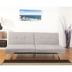 Brika Home Fabric Convertible Sofa in Ash
