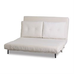 Brika Home Fabric Sleeper Sofa in Ivory