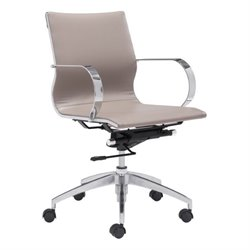 Brika Home Low Back Faux Leather Office Chair 1