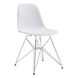 Brika Home Dining Chair in White
