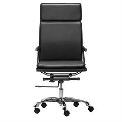 Brika Home Modern Leatherette High Back Office Chair in Black