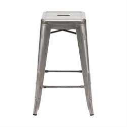 Brika Home Modern Bar Stool in Gunmetal