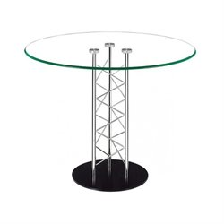 Brika Home Casual Dining Table with Glass Top