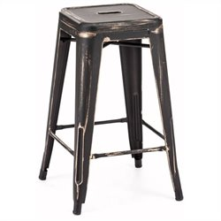 Brika Home Bar Chair in Antique Black Gold