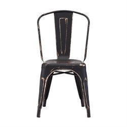 Brika Home Dining Chair in Antique Black Gold