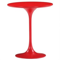 Brika Home Modern Painted Wood Side Table in Red