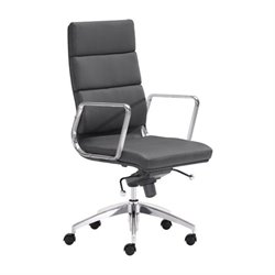 Brika Home High Back Faux Leather Office Chair
