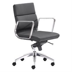 Brika Home Low Back Faux Leather Office Chair