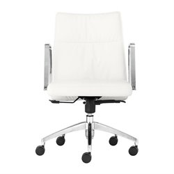 Brika Home Low Back Office Chair in White