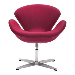 Brika Home Egg Chair in Red